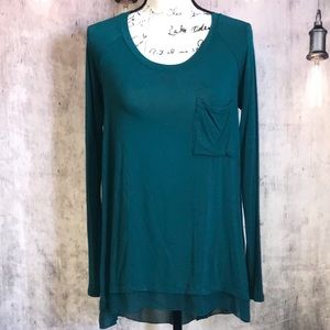 Philosophy Teal Tunic size S